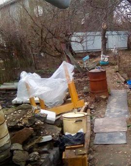 почистване на двор 3